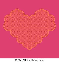 Valentine's day. Orange heart