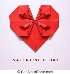 Valentine's Day Origami Card