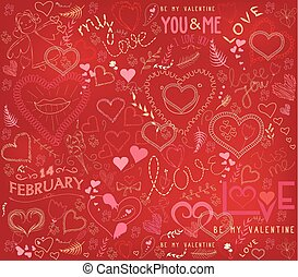 valentines day ornate background