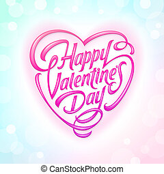 Valentines Day ornate lettering
