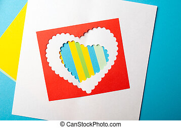 Valentines Day. Paper Heart