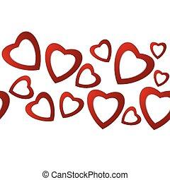 Valentines day. Paper hearts. Valen