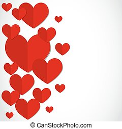 Valentine's day party card vector