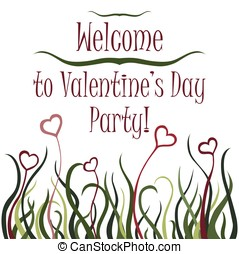 Valentine's day party invitation - Welcome banner for...