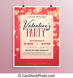 valentines day party poster design