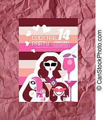 Valentine's Day Party Poster - Valentine's Day party poster...