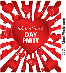 Valentine's Day Party - red background