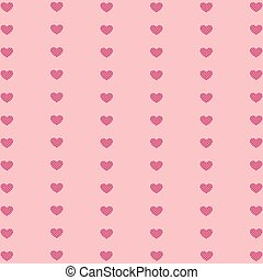 Valentines day pattern with heart