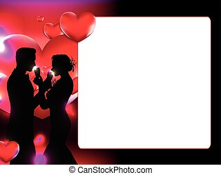 Valentine's Day photo frame vector illustration