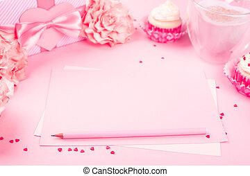 Valentines day pink background