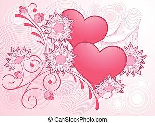 Valentines Day pink design. Vector