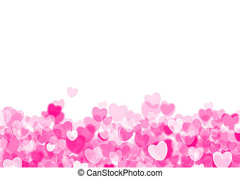 Valentine's day pink hearts background - Valentine's day...