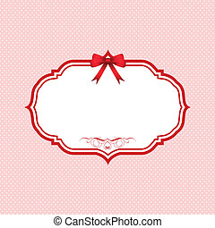 Valentines Day polka dot background