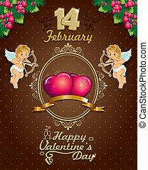 Valentine's Day Poster label ciocoo - Poster hearts cupid...