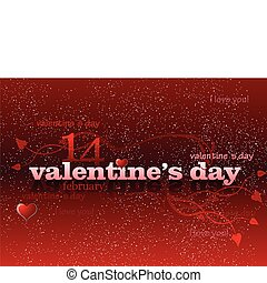 Valentine`s Day red background