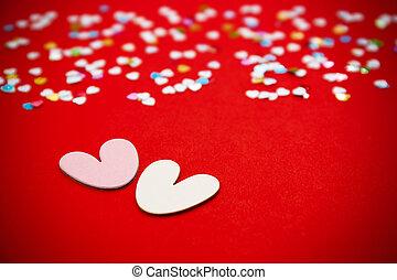 Valentines day red background