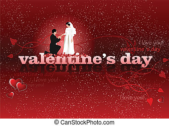 Valentine`s Day red background with