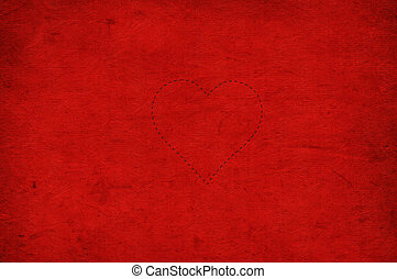 Valentine's day red background with hearts