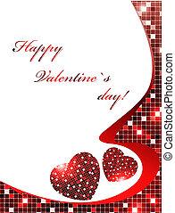 Valentine`s day red frame
