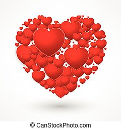 Valentines Day red heart