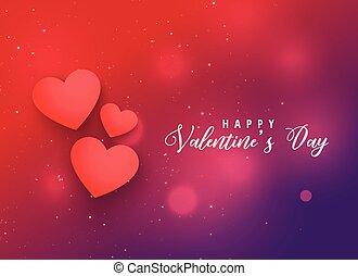 valentine's day red hearts background design