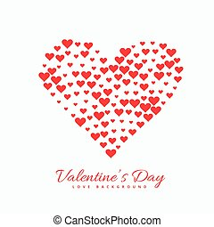 valentines day red hearts background