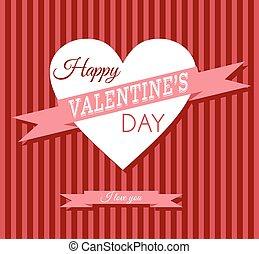 Valentine's day retro card