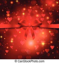 Valentine's day ribbon background 1512