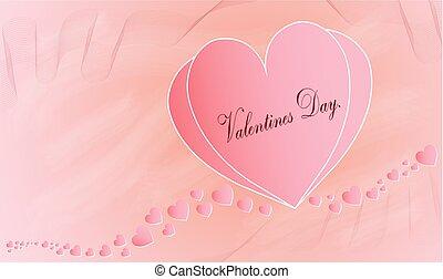 Valentines Day romantic greeting card, Vector illustration.