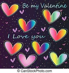 Valentine's Day - romantic postcard