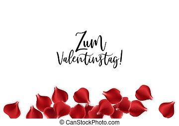Valentines Day rose petal background - Festive holiday...