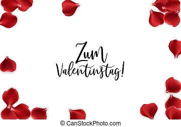 Valentines Day rose petal background - Valentine poster....