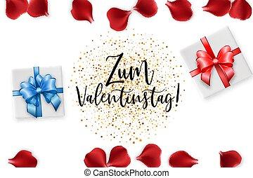 Valentines Day rose petal background - Zum Valentinstag...