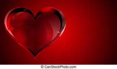 Valentine's day sale animation, plain red background with...