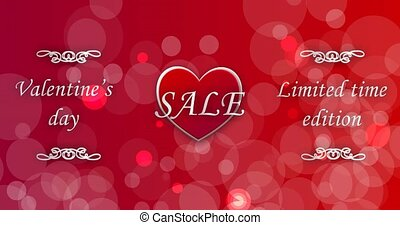 Valentine's Day Sale limited time edition. Symbol of love