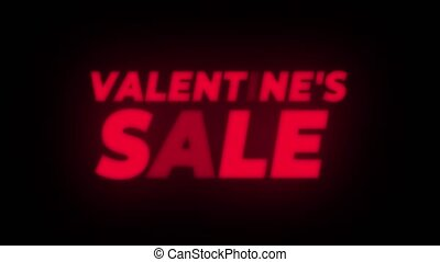 Valentine's Day Sale Text Flickering Display Promotional...