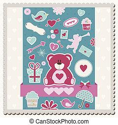 Valentine's Day scrapbook card