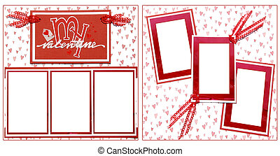 Valentine's Day Scrapbook Frame Template
