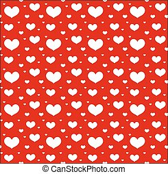 Valentines Day seamless pattern with hearts. Love, romance endless background, texture. Vector illustration.