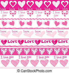 Valentine's Day seamless pattern with hearts
