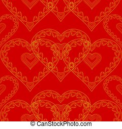 Valentines day seamless texture red