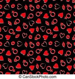 Valentine's Day Seamless Vector Patterns.