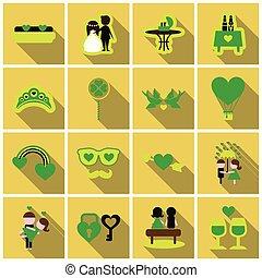 Valentine`s Day set - labels, emblems and other elements. Vector illustration.
