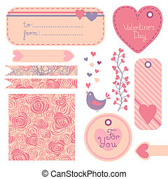 Valentine's Day set of design elements
