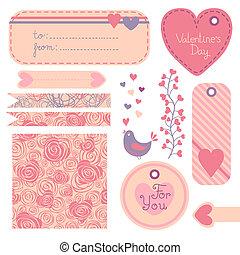Valentine's Day set of design elements