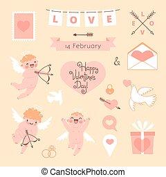 Valentine's Day set of elements for design.