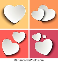 Valentines Day Set of Four Colorful