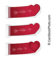 Valentines Day set of three tickets