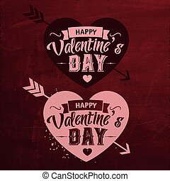 Valentines Day Set Of Typographic Design