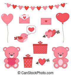 Valentine's day set of vector elements